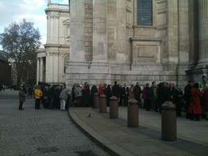 Queue outside St. Paul's for John Donne event